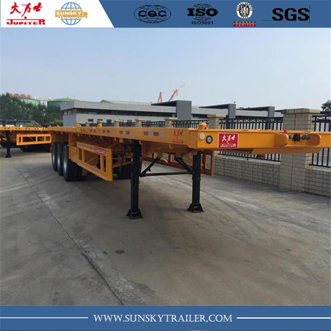 high quality flatbed semi trailer weight price