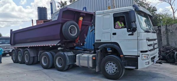 SUNSKY brand-3 Axle tipper trailer