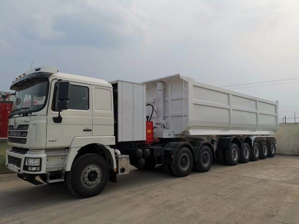 60 tons 5 axle tipper trailer