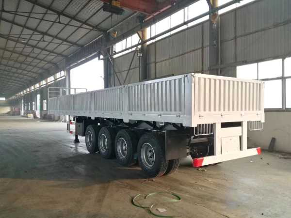4 axle drop side trailer