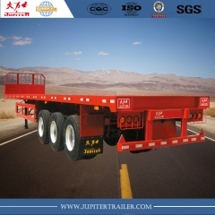 Sunsky brand 40ft 3-axle flatbed semi-trailer for carry container