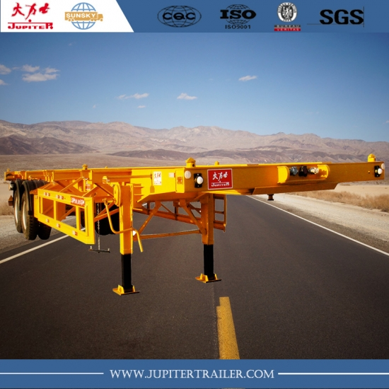 40ft 2-axle skeleton semi-trailer for carry container