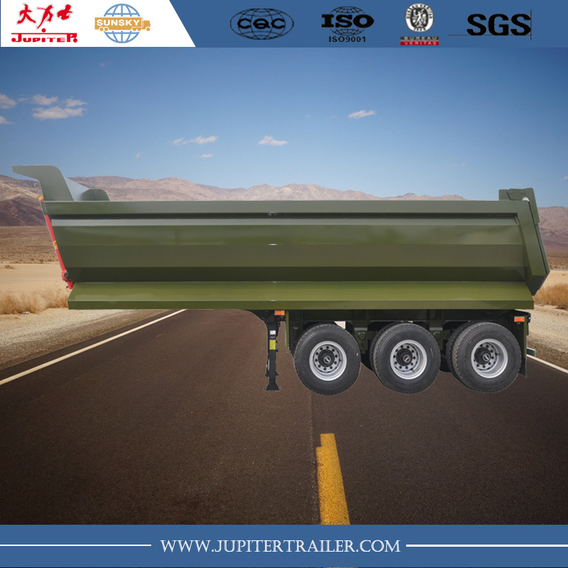 3-axle U shape tipper trailer