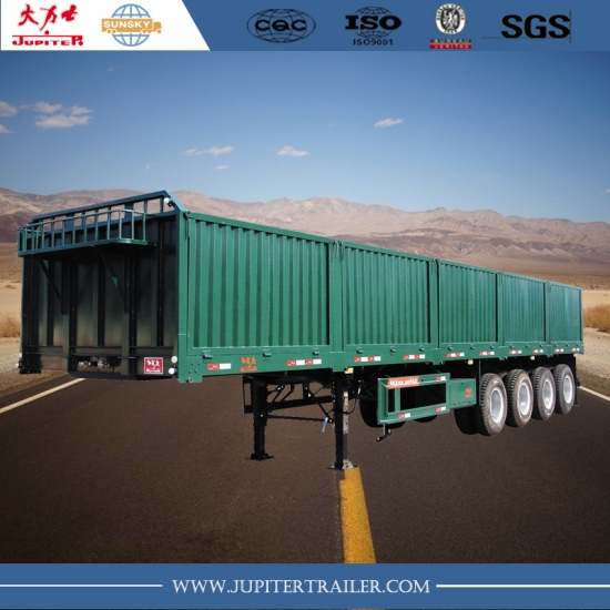 Sunsky brand 40ft 4-axle semi-trailer with siding wall