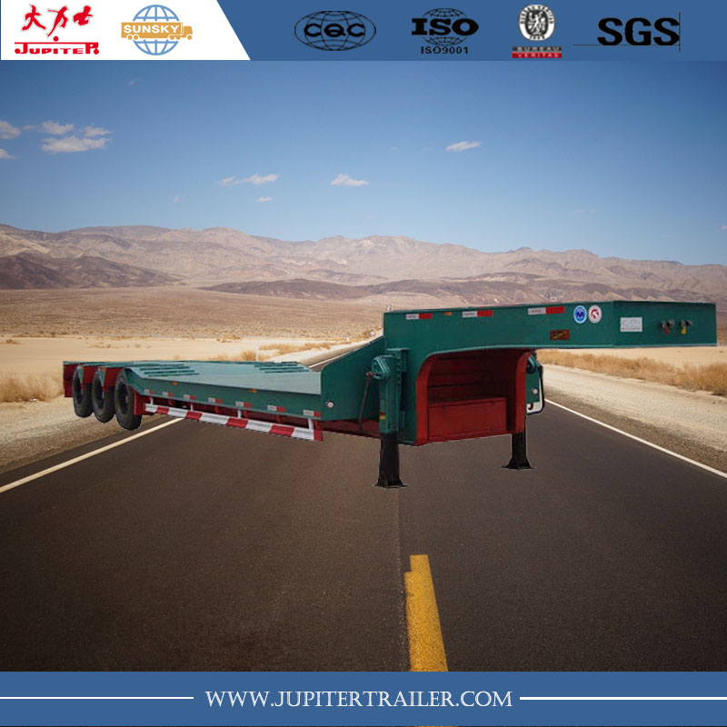 3 axle 50ton Lowbed Semi-Trailer