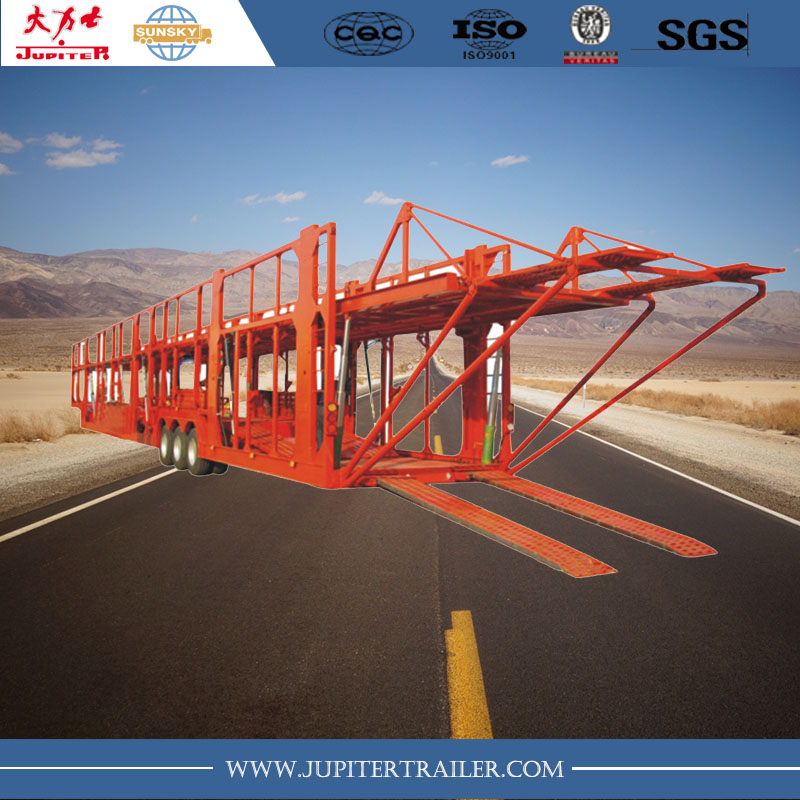 3 Axle Vehicle Auto Car Carrier Transport SemiTrailer