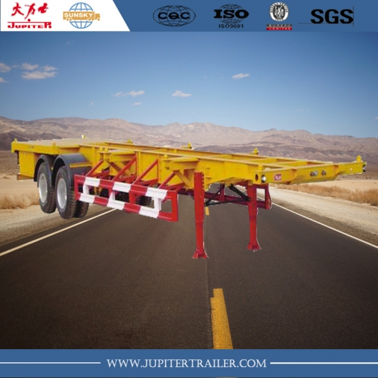 Chinese brand 20ft skeleton semi-trailer