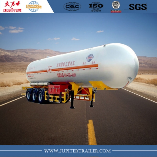 Big capacity lpg tanker trailer