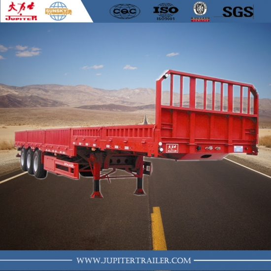 40ft 3-Axle Semi-Trailer with side wall