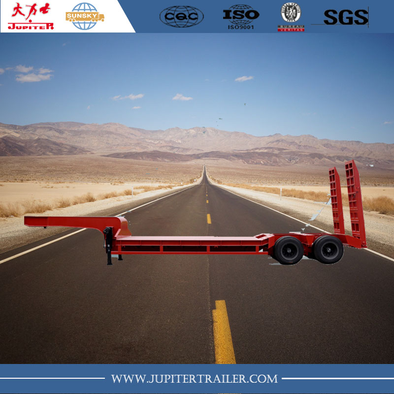 80tons 2 Lines 4 Axles Low Bed Truck Trailers