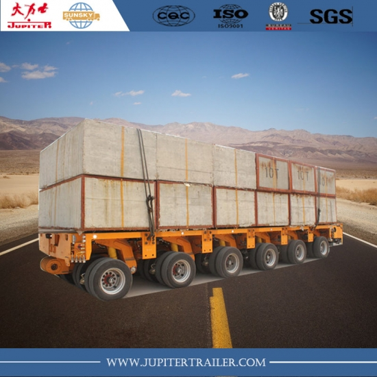 6 axles low bed truck trailer