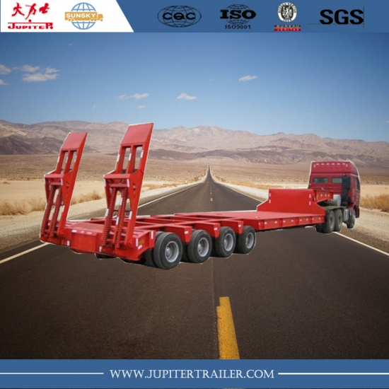 4 rows 8 axles lowbed semi-trailer