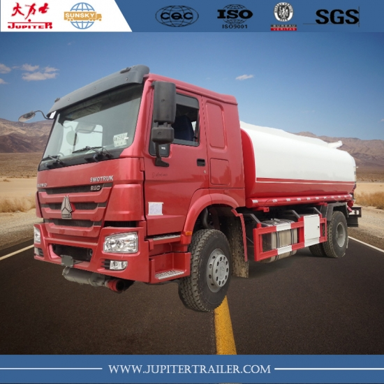 The Best Brand HOWO 4X2 4,000L fuel tank Truck in china