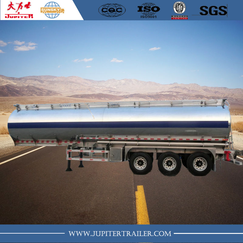 40000L three axle stainless steel tanker trailer