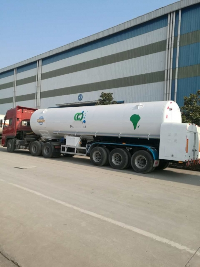LCO2 Tanker Semi-Trailer with Vacuum Insulation