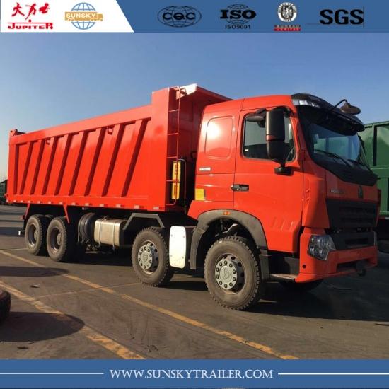 Prix Usine Sinotruk Howo A7 8x4 420 Hp Euro Iv Benne Camion A