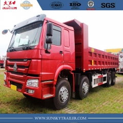 China Howo brand 371hp camion à benne bas 12 roues
