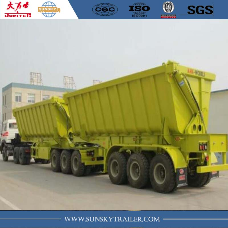 40cbm 2/3 axles interlink tipper semi-trailer