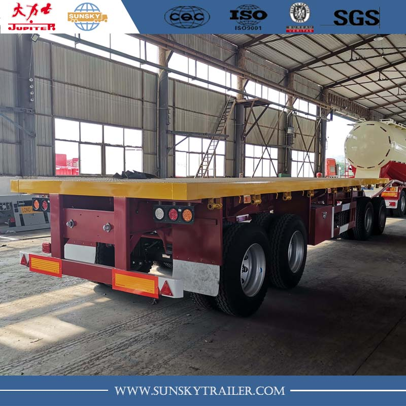 4 Axle drawbar flatbed trailer for sale