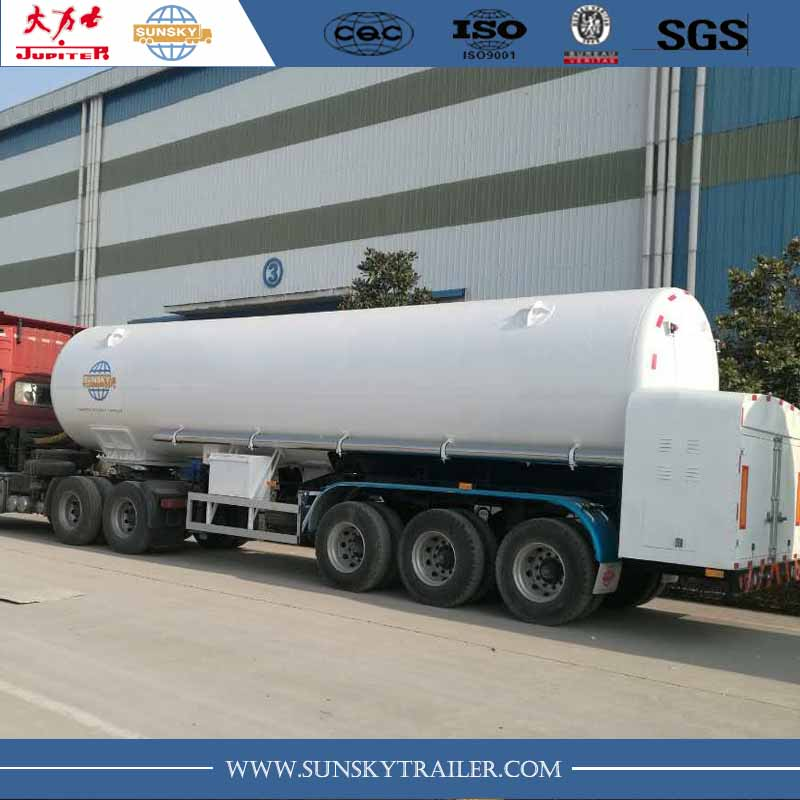 LCO2 gas tanker trailer
